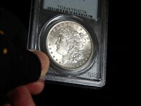 PCGS 1881-P MINT STATE 64  MORGAN SILVER DOLLAR  COIN  LUSTER.