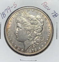 1879-S REV OF 78 MORGAN SILVER DOLLAR , AU DETAILS