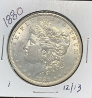 1880 MORGAN SILVER DOLLAR, BU