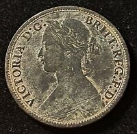 1865 GREAT BRITAIN FARTHING QUEEN VICTORIA OLD COIN