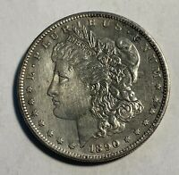 1890-S MORGAN SILVER DOLLAR CHOICE AU CLEANED 14051