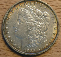 1885 P MORGAN SILVER DOLLARS - 4 IN GREAT CONDITION - SEE PICS