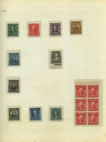 US PAGE OF 1903 REGULARS MINT NH WITH PLATE  STRIPS AND BLOC