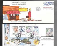 US FDC FIRST DAY COVERS  COLLECTION LOT OF 8  ON 10 ENVELOPE