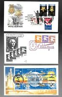 US FDC FIRST DAY COVERS  COLLECTION WITH COMBO    LOT OF 15