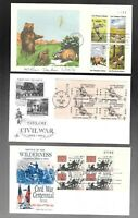 US FDC FIRST DAY COVERS  COLLECTION WITH  PLATE BLOCK    LOT