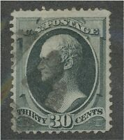 165 USED   FANCY CANCELED HARD THIN PAPER     ..190894