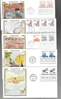 US FDC FIRST DAY COVERS  TRANSPORTATION COILS LOT OF 17 COLO