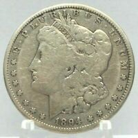 1894-S MORGAN DOLLAR MINT STATE 90 SILVER $1 US COIN  H2082