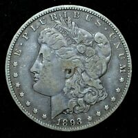 1893-O $1 MORGAN SILVER DOLLAR  EXTRA FINE  EXTRA FINE  CHOICE CH NEW ORLEANS TRUSTED