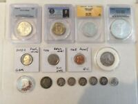 US COINS LOT COLLECTION 16 TOTAL COINS  1  COIN   MS66 WALKI