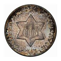 1851-O 3CS THREE CENT SILVER PCGS MINT STATE 66 CAC