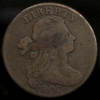 1802 DRAPED BUST LARGE CENT -- F TO VF CONDITION