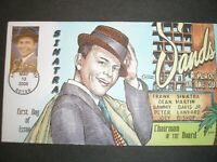 US FDC 4265 .42 FRANK SINATRA Q4402 COLLINS HANDPAINTED CACH