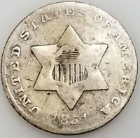 1851 THREE CENT PIECE, SILVER COMPOSITION