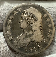 1812 CAPPED BUST HALF DOLLAR COOL LOOKING COINITS WORN  COOL KB4282
