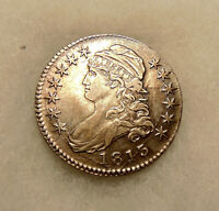 1813 CAPPED BUST 50C - OVERTON 107A -  SHARP LOOKING COIN - SHIPS FREE