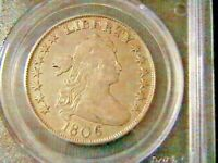 1806 POINTED 6, STEM BUST HALF DOLLAR PCGS VF-25,  TYPE OF COIN