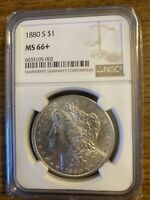 1880 S NGC MINT STATE 66 MORGAN SILVER DOLLAR