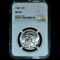 1940-P WALKING LIBERTY HALF DOLLAR  NGC MINT STATE 64  50C UNCIRCULATED 018 TRUSTED