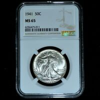 1941-P WALKING LIBERTY HALF DOLLAR  NGC MINT STATE 65  50C UNCIRCULATED 011 TRUSTED