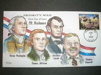 US FDC 4268 $4.50 MT. RUSHMORE V4401 COLLINS HANDPAINTED CAC
