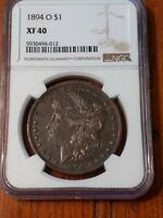 1894 O MORGAN SILVER DOLLAR EXTRA FINE 40 NGC CERTIFIED.  DATE. 9325193M