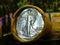 ROLL OF 20 SILVER HALF DOLLAR COINS 1917 END / S END  SKUHZ1