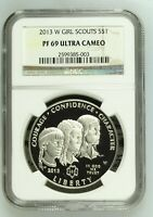 2013 W S$1 GIRL SCOUTS OF AMERICA SILVER DOLLAR NGC PF69 ULT