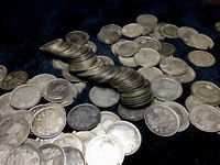 WORLD SILVER COIN   LOT OF 150 CANADA 1911 1920 5 CENT 92.5