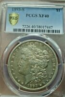 1893-S MORGAN DOLLAR PCGS EXTRA FINE  40  GREAT LOOKING KEY COIN