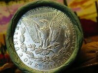 ROLL OF 10 SILVER MORGAN DOLLARS 10 COINS  CC / 1891 ENDS SK