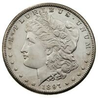 1897-S $1 SILVER MORGAN DOLLAR IN CHOICE BU CONDITION, FULL MINT LUSTER