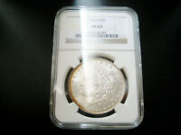 1884 OMORGAN SILVER DOLLAR CHOICE UNC BU COIN NGC MINT STATE 63 TONED
