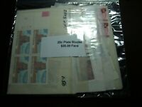 US POSTAGE 25 CENT MINT NEVER HINGED PLATE BLOCKS OF 4 AND S