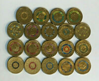 19 X $2 COLOURED CIRCULATED COMMEMORATIVE COINS ANZAC OLYMPI
