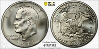 1972 S EISENHOWER DOLLAR PCGS MINT STATE 68 SILVER REGISTRY COIN $1 TV UNCIRCULATED