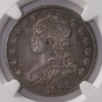 1833 CAPPED BUST 50C NGC CERTIFIED AU53 AU GRADED SILVER HALF DOLLAR COIN