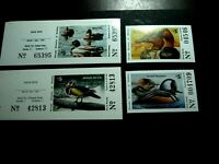 4 NEVADA STATE DUCK STAMPS SCOTT 16 17 AND 20 21 MNH CAT VAL