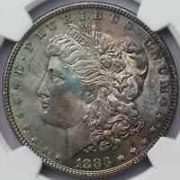 1883 MORGAN SILVER DOLLAR NGC MINT STATE 64 TONED