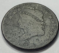 1810 CLASSIC HEAD EARLY US LARGE CENT 1C. 1159