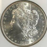 1881 S MORGAN SILVER DOLLAR NGC MINT STATE 66