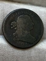 1804 DRAPED BUST HALF CENT   ROTATED DIE