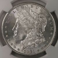 1881-S MORGAN $1 NGC CERTIFIED MINT STATE 67 HIGH END MINT STATE GRADED US SILVER DOLLAR