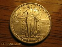 1917 S TYPE 1 STANDING LIBERTY QUARTER ABOUT UNCIRCULATED AU