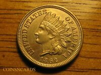 1862 1C INDIAN HEAD CENT ATTRACTIVE UNCIRCULATED BEAUTY W/ A