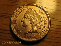1863 INDIAN HEAD CENT LUSTROUS UNCIRCULATED TONED BEAUTY ALL