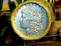 ROLL OF 20 SILVER MORGAN DOLLARS 20 COINS 1893 END / S END S