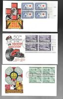 US FDC  FIRST DAY COVERS  WITH PLATE BLOCK   LOT OF 4   BY