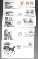 US FDC FIRST DAY COVERS  TRANSPORTATION COILS  LOT OF 14  BY